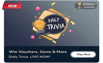 Flipkart Game Zone - Daily Trivia Quiz   Answer & Win Exciting Prizes Daily