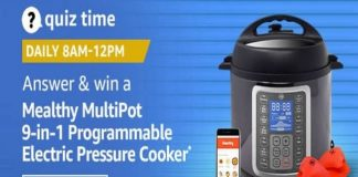 Amazon Quiz Time 01 Dec 2020   Win Mealthy MultiPot 9-in-1 Programmable Electric Pressure Cooker