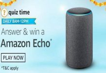 Amazon Quiz Time 20 Oct 2020 | Answer & Win a Amazon Echo
