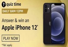 Amazon Quiz Time 29 Nov 2020 | Win an Apple iPhone 12
