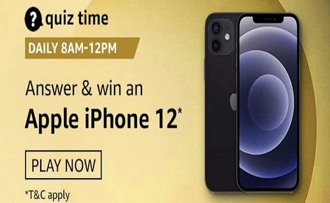 Amazon Quiz Time 29 Nov 2020 | Win an Apple iPhone 12
