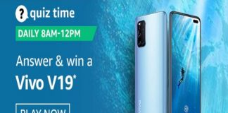 Amazon Quiz Time 15 Nov 2020 | Win a Vivo V19