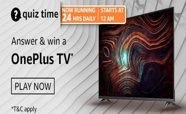 Amazon Quiz Time 13 May 2021 | Win a OnePlus TV