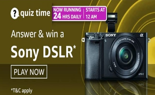 Amazon Quiz Time 16 May 2021 | Win a Sony DSLR Camera