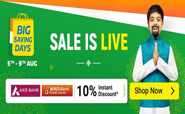 Flipkart Big Saving Days | 10% Instant Discount on Axis & ICICI Bank Cards