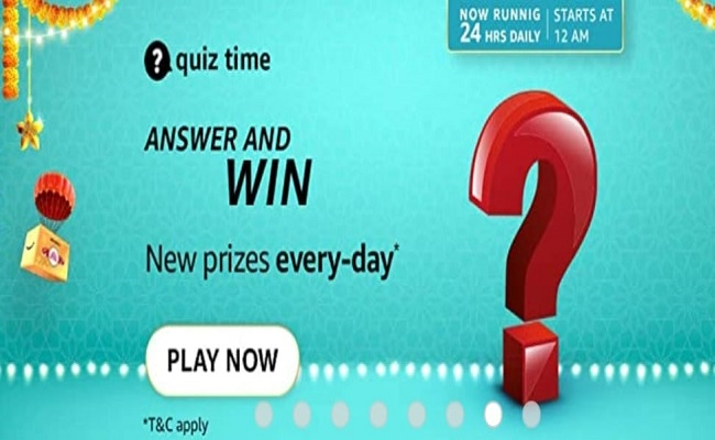 Amazon Quiz Time 26 Oct 2021 | Win Rs 1,000 Pay Balance